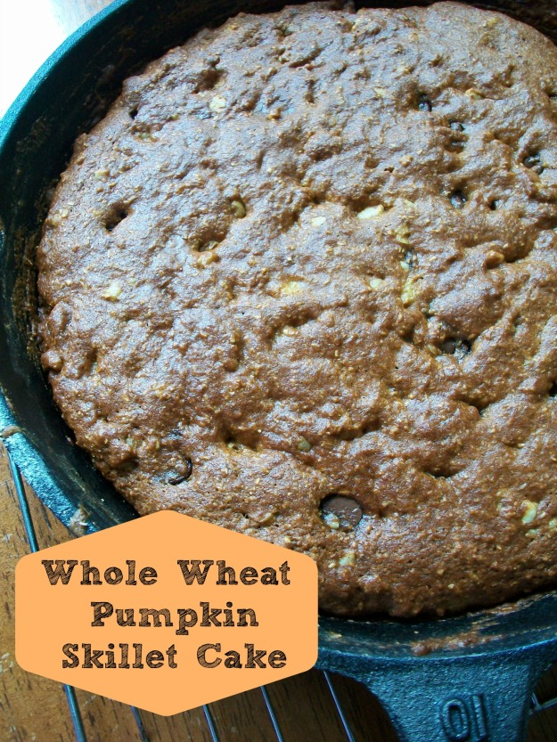 Whole Wheat Pumpkin Skillet Cake