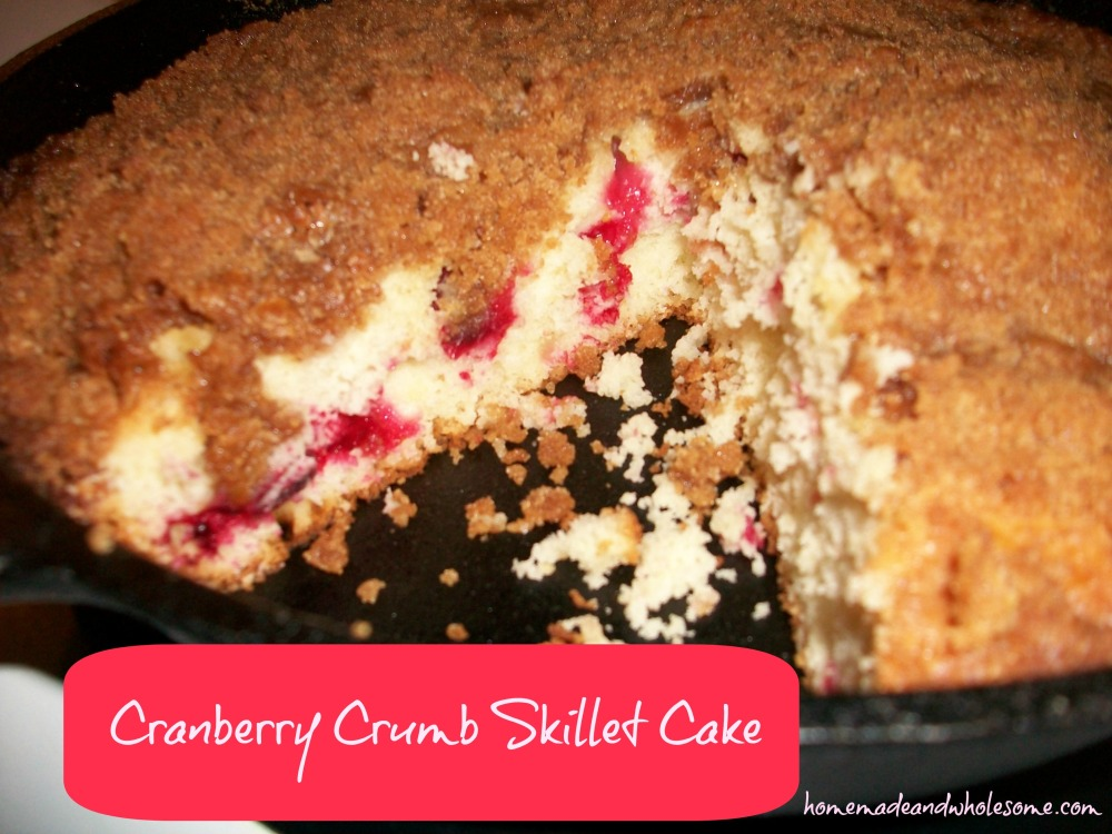 cranberry crumb skillet cake