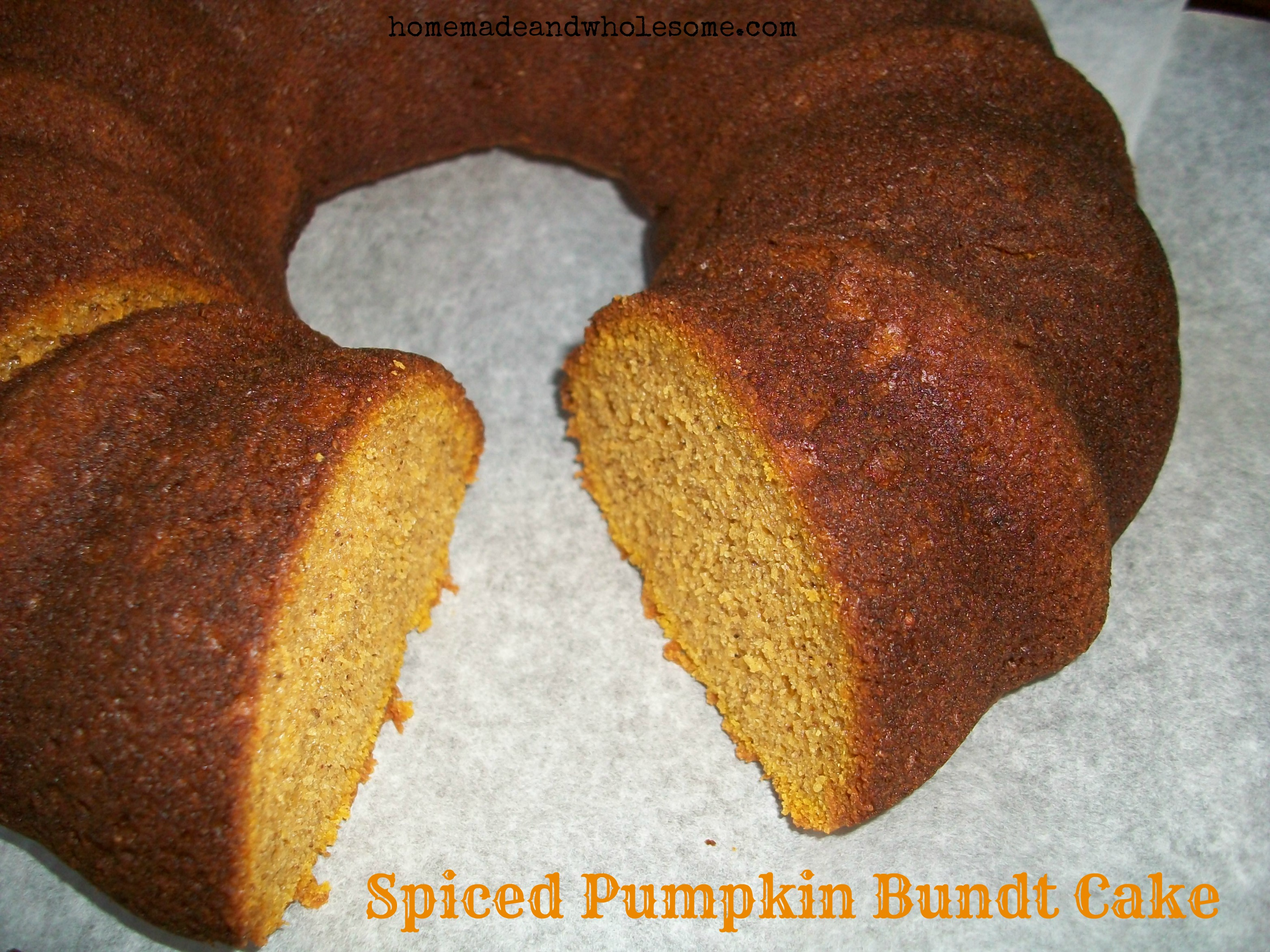 Spiced Pumpkin Bundt Cake | Homemade and Wholesome