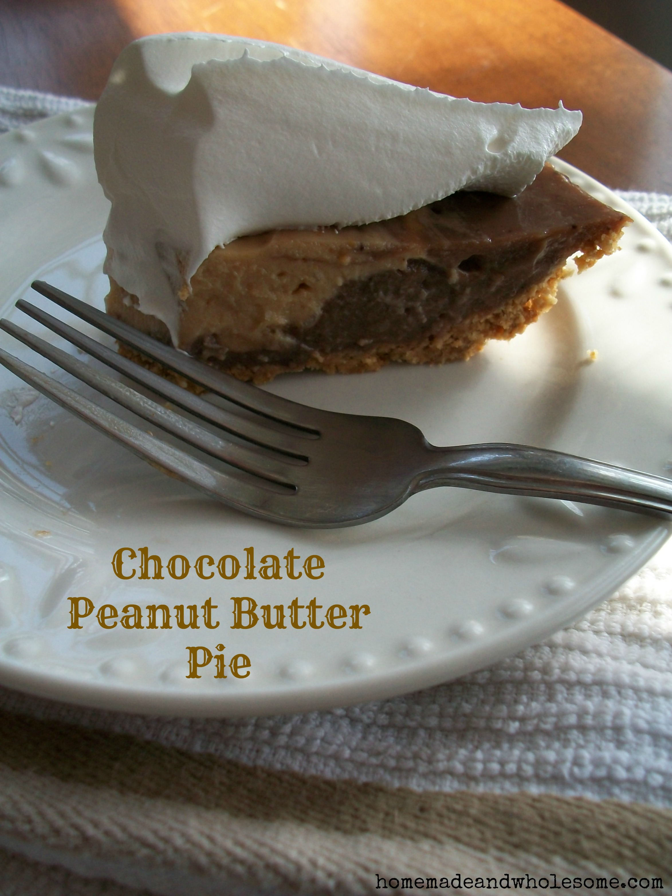 Chocolate Peanut Butter Pie | Homemade and Wholesome