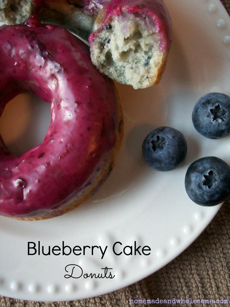 blueberry cake donut